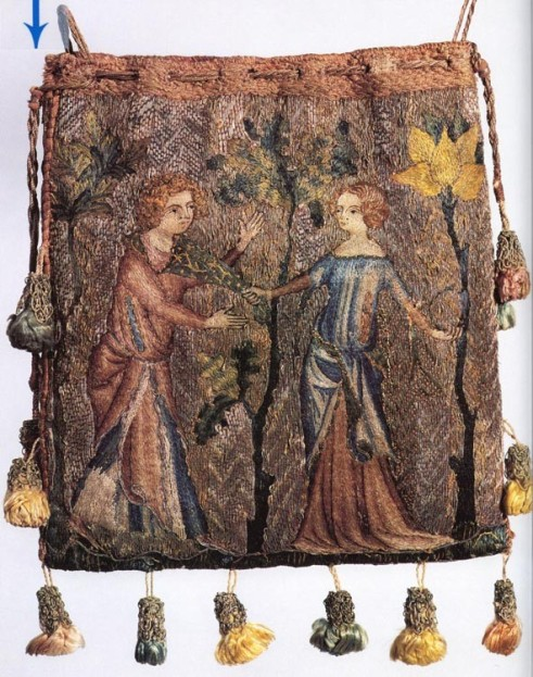 13th-16th Century, FRENCH EMBROIDERED BAGS
